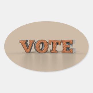 Vote Oval Sticker
