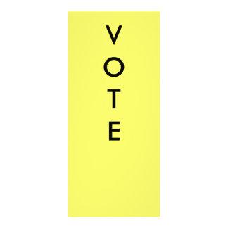 VOTE PADDLES RACK CARD DESIGN