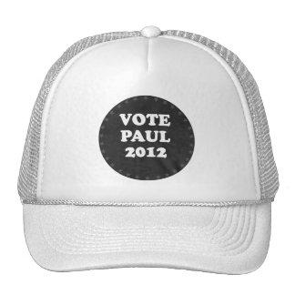 VOTE PAUL IN 2012 (white) Cap