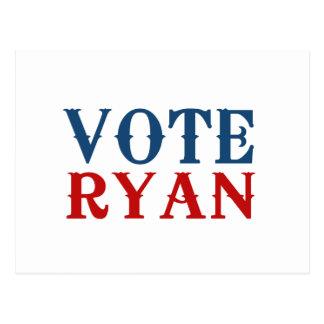 VOTE PAUL RYAN 2012 POST CARD