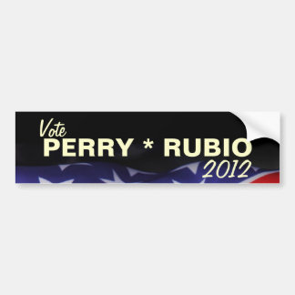 Vote PERRY RUBIO 2012 Bumper Sticker