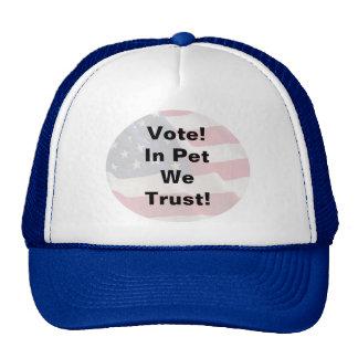Vote Pet We Trust Mesh Hat