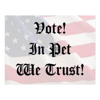 Vote Pet We Trust Postcard