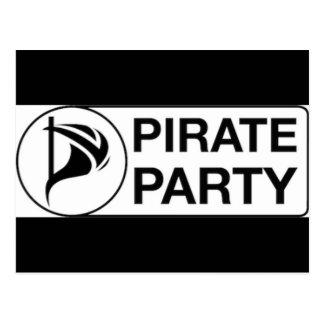 Vote Pirate Party Postcard