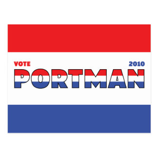 Vote Portman 2010 Elections Red White and Blue Postcard