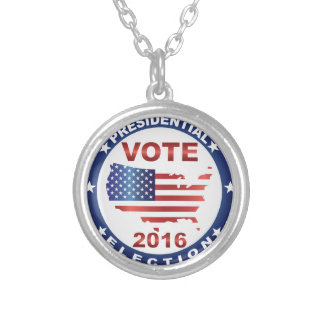 Vote President Election 2016 Round Button Round Pendant Necklace