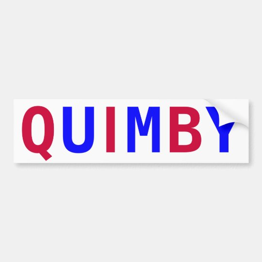 Vote Quimby for Mayor Bumper Sticker
