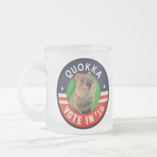 Vote Quokka in 2016 for President Frosted Glass Mug