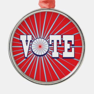 VOTE RED Premium Round Ornament