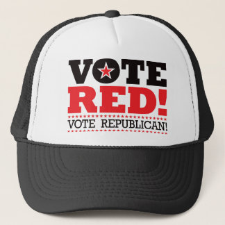 Vote Red! Vote Republican! Trucker Hat