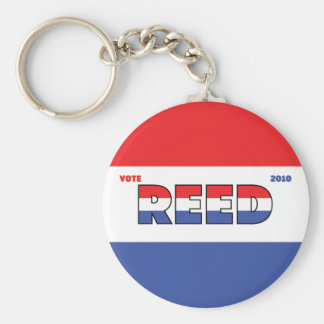 Vote Reed 2010 Elections Red White and Blue Keychain