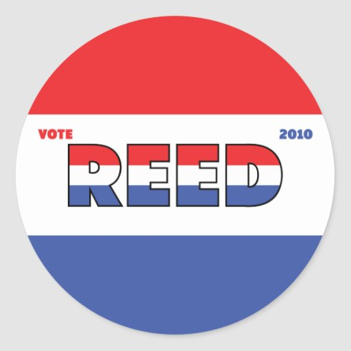 Vote Reed 2010 Elections Red White and Blue Sticker