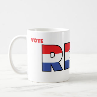 Vote Reid 2010 Elections Red White and Blue Basic White Mug