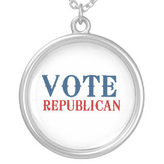 VOTE REPUBLICAN 2012 ROUND PENDANT NECKLACE