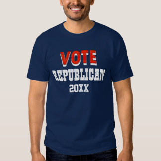 Vote Republican elections anti democratic BLUE Tee Shirt