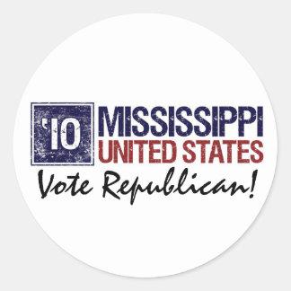 Vote Republican in 2010 – Vintage Mississippi Sticker