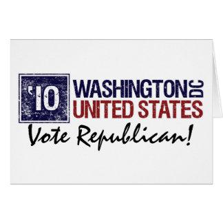 Vote Republican in 2010 – Vintage Washington DC Greeting Card
