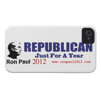 Vote REPUBLICAN Just For A Year Ron Paul 2012 iPhone 4 Cases