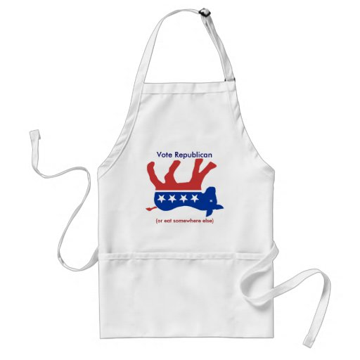 Vote Republican (or eat somewhere else)- Apron