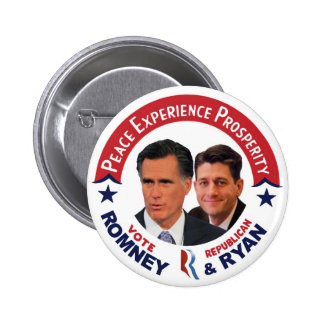 Vote Republican Romney & Ryan 6 Cm Round Badge