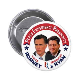Vote Republican Romney & Ryan 6 Cm Round Badge