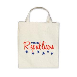 Vote Republican (Stars) Canvas Bags