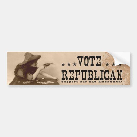 Vote Republican Vintage 2nd Amendment Bumper Sticker