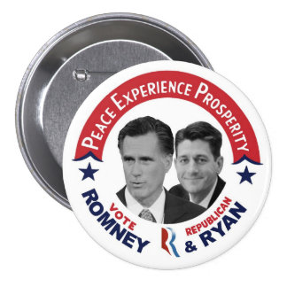 Vote Republican Vote Romney & Ryan 7.5 Cm Round Badge