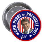 Vote Rick Perry for President 2012 7.5 Cm Round Badge