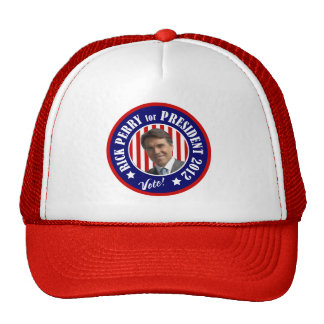 Vote Rick Perry for President 2012 Hats