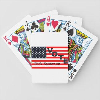 Vote Rick Santorum for President 2016 Poker Deck