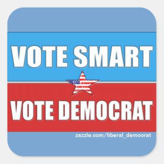 VOTE RIGHT, VOTE DEMOCRAT SQUARE STICKER
