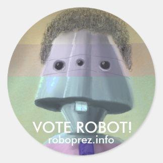 Vote Robot! - Large Chuck10.1 Sticker