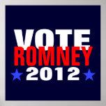 Vote Romney 2012 Poster