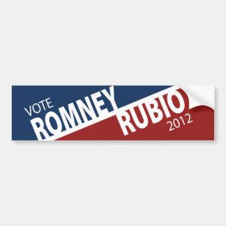 Vote Romney Rubio 2012 Bumper Sticker Car Bumper Sticker