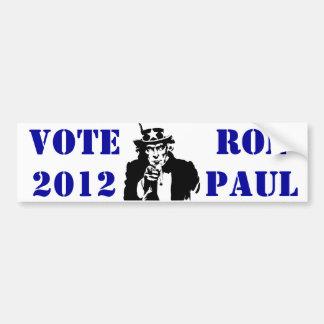 VOTE RON PAUL 2012 BUMPER STICKER
