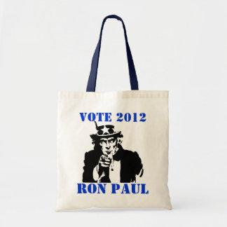 VOTE RON PAUL 2012 TOTE BAG