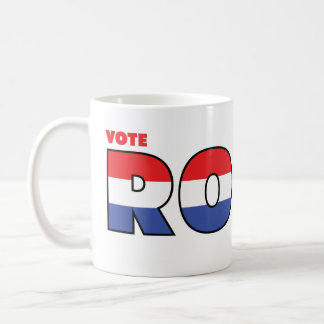 Vote Rossi 2010 Elections Red White and Blue Coffee Mugs