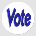 vote round stickers