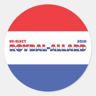 Vote Roybal-Allard 2010 Elections Red White Blue Sticker