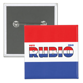 Vote Rubio 2010 Elections Red White and Blue 15 Cm Square Badge