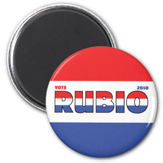 Vote Rubio 2010 Elections Red White and Blue 6 Cm Round Magnet