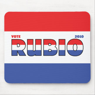 Vote Rubio 2010 Elections Red White and Blue Mouse Pad