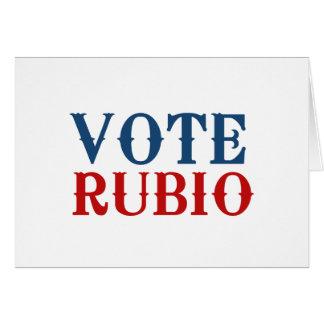 VOTE RUBIO 2012 CARDS