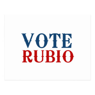 VOTE RUBIO 2012 POST CARD