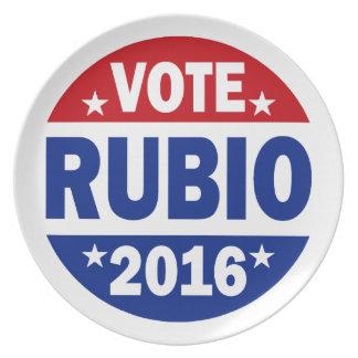 Vote Rubio 2016 Plate
