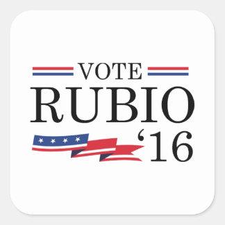Vote Rubio 2016 Square Sticker