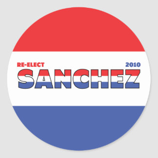 Vote Sanchez 2010 Elections Red White and Blue Sticker