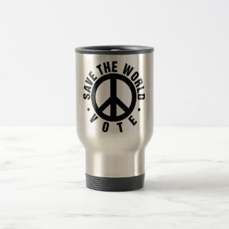VOTE! Save the World Stainless Steel Travel Mug