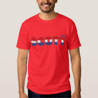 Vote Scott 2010 Elections Red White and Blue T Shirt